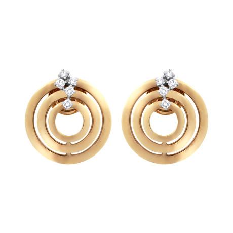 Damiani Sophia Loren 18k Rose Gold Diamond Earrings