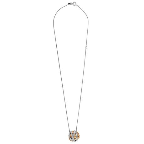 Damiani 18k White Gold Diamond Pendant Necklace