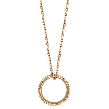 "Damiani Metropolitan 18k Rose Gold Diamond Pendant Necklace // Chain Length: 18.5"""