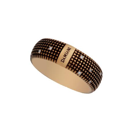 Damiani Metropolitan 18k Brown Gold Diamond Ring // Ring Size: 8.5
