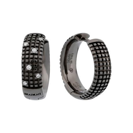 Damiani Metropolitan 18k Black Gold Diamond Earrings // 20031702