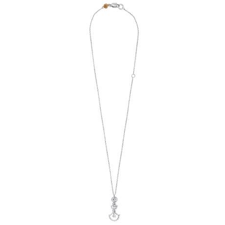 Damiani Juliette 18k White Gold Diamond Pendant Necklace
