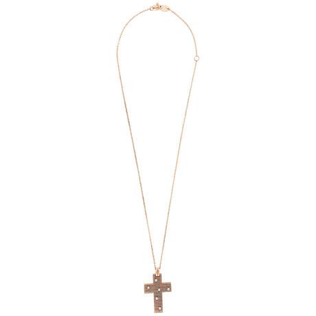 Damiani Metropolitan 18k Rose Gold Diamond Pendant Necklace
