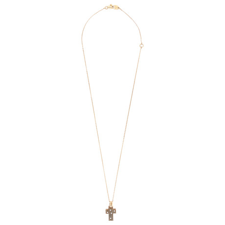 "Damiani Metropolitan 18k Rose Gold Diamond Pendant Necklace // Chain Length: 17"""