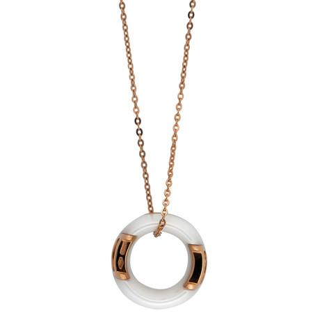 Damiani D.Icon 18k Rose Gold Diamond Pendant Necklace // Chain Length: 18""