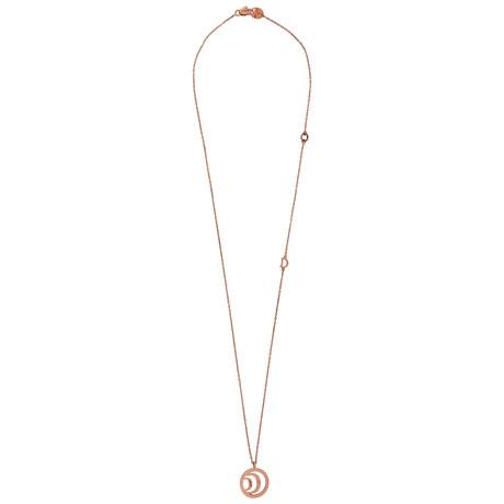 "Damiani Damianissima 9k Rose Gold Diamond Pendant Necklace // Chain Length: 16"""