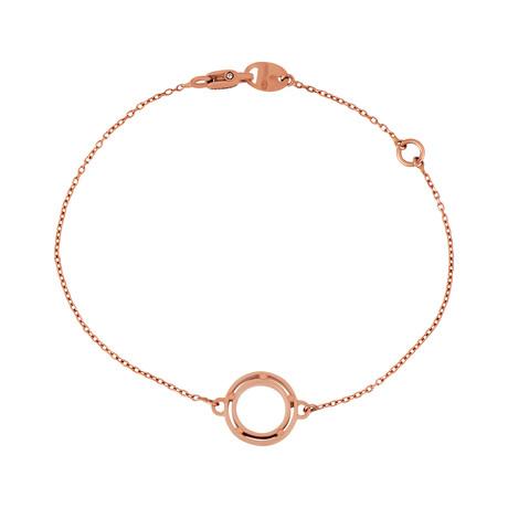 "Damiani D. Side 9k Rose Gold Diamond Bracelet // Length: 7"""