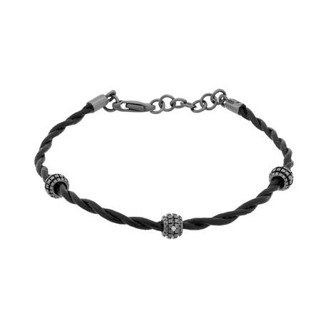 """Damiani 18k Black Gold Diamond Bracelet // Bracelet Size: 8"""""""
