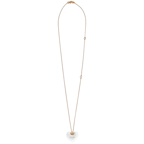 "Damiani D.Icon 18k Rose Gold Diamond Pendant Necklace // Chain Length: 23"" // 20062858"