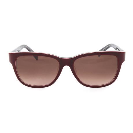 JS622S Sunglasses // Bordeaux Tweed