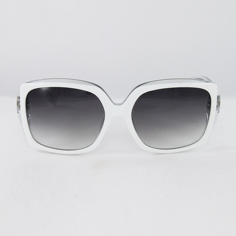 JS634S Sunglasses // White Crystal