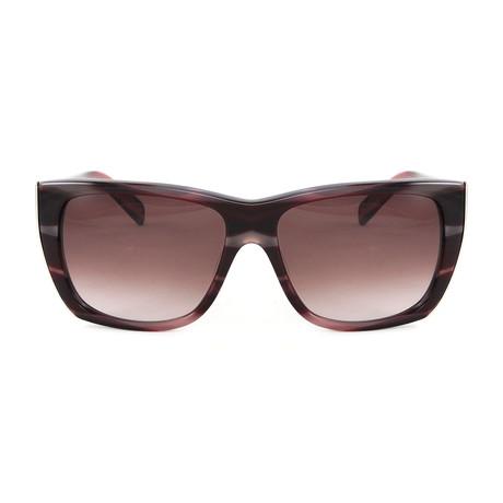 JS677S Sunglasses // Stripe Red