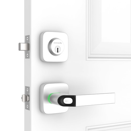 Ultraloq Combo // Fingerprint + Key Fob Two-Point Smart Lock (Smart Lock + WiFi Bridge)