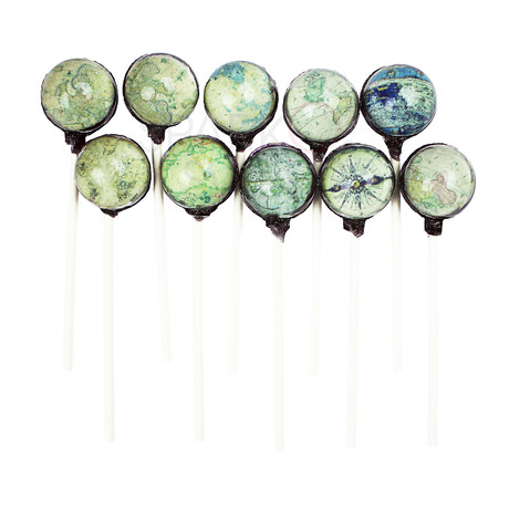 Ancient Map Lollipops // 10-Pieces