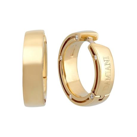 Damiani D.Side 18k Yellow Gold Diamond Earrings