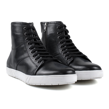 Leather High Top // Black (UK: 6)