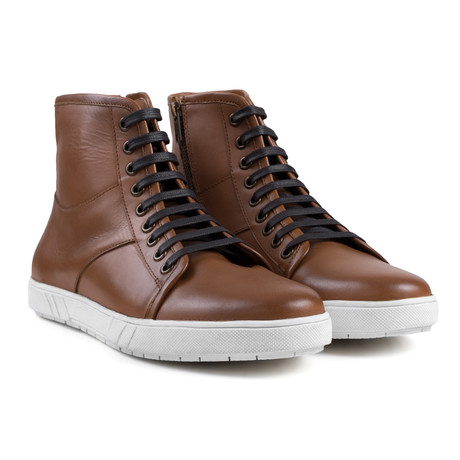 Leather High Top // Tan (UK: 6)