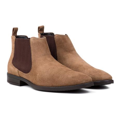 Water Resistant Suede Chelsea Boots // Tan (UK: 6)