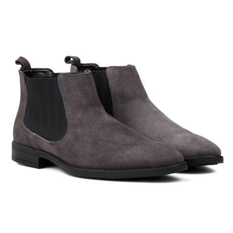 Water Resistant Suede Chelsea Boots // Grey (UK: 6)