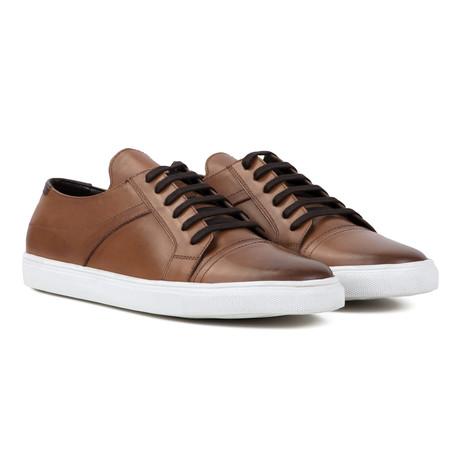 Leather Plimsoll // Tan (UK 6)