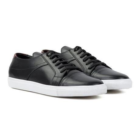 Leather Plimsoll // Black (UK 6)