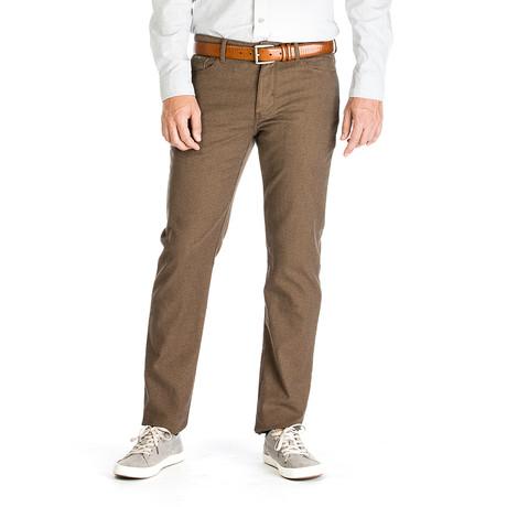Travis Belgium Tweed 5 Pocket Pant // Tailored Fit // Mushroom (30WX30L)