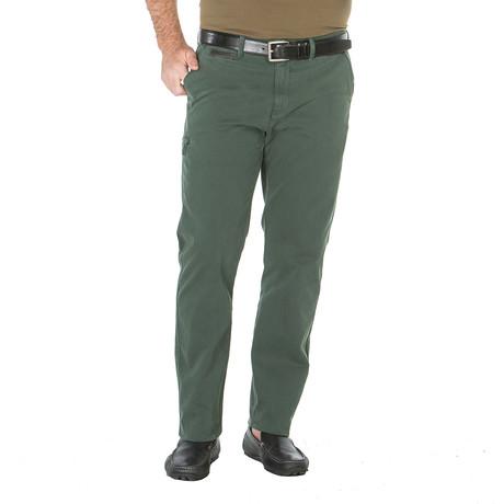 Michael Camper Canvas Trouser // Tailored Fit // Green Beret (30WX30L)