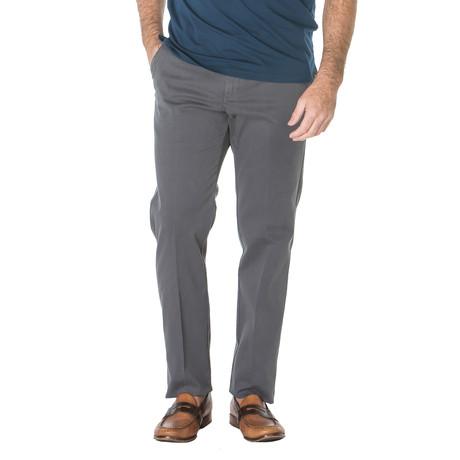 Paul English Twill Trouser // Straight Fit // Steel (30WX30L)