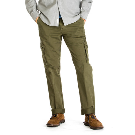 Ranger Cargo Pique Pant // Straight Fit // Moosewood (30WX30L)