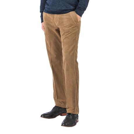 Patrick Tencel Corduroy Trouser // Straight Fit // Mushroom (30WX30L)