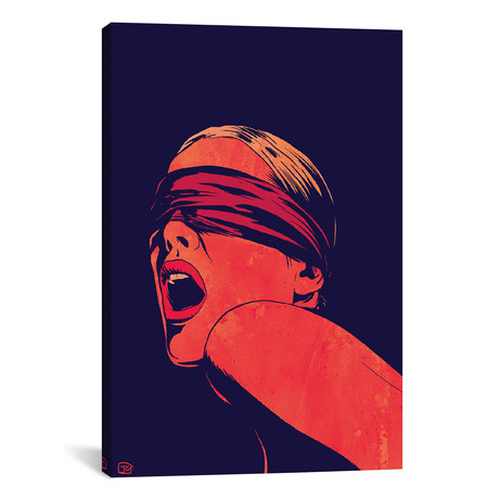"Blindfolded // Giuseppe Cristiano (18""W x 26""H x 0.75""D)"