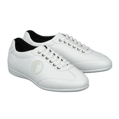 Logo Lace-Up Sneaker // White (Euro: 39)