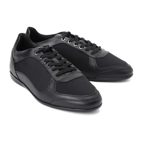 Plain Toe Lace-Up Sneaker // Black (Euro: 39)