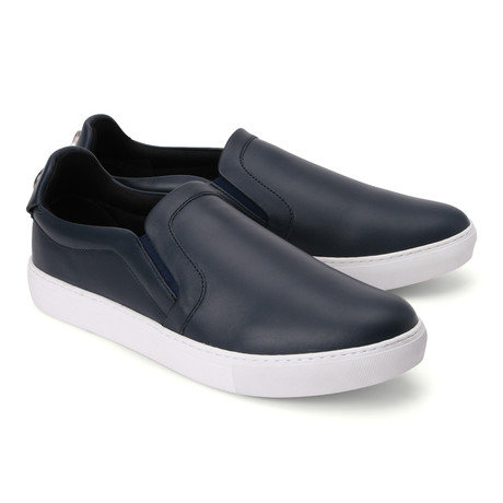 Leather Slip On Loafer // Blue (Euro: 39)