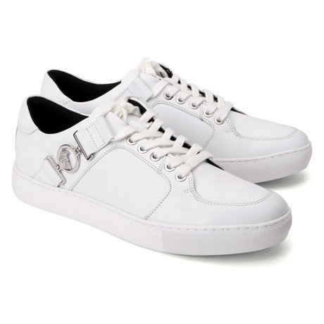 Buckled Lace-Up Sneaker // White (Euro: 39)