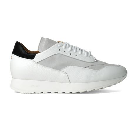 Trajan Calfskin Sneakers // White + Off White + Black (US: 7)