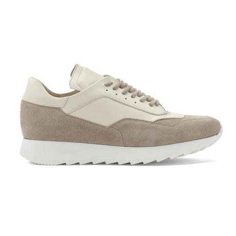 Trajan Calfskin Sneakers // Beige + Crema (US: 8)