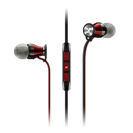 HD1 In-Ear Headphone // Black + Red // Android