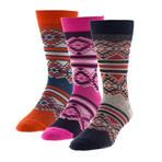 Aztec Is Back // Boot Socks 3 Pack
