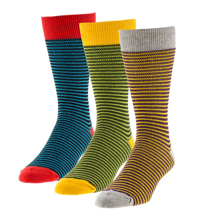 Classic Stripes Boot Sock // Pack of 3
