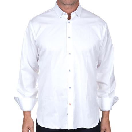 Jacquard Button-Down // White (2XL)