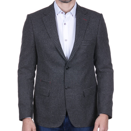Houndstooth Jacket // Black + Grey (S)