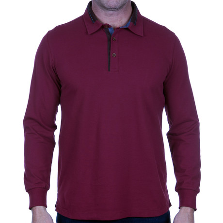 Long-Sleeve Polo // Burgundy (S)