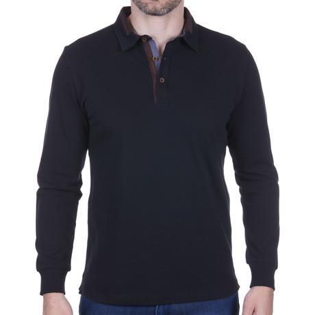 Long-Sleeve Polo // Black (S)