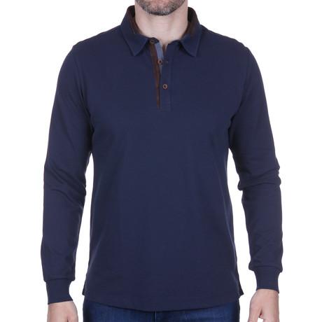 Long-Sleeve Polo // Navy (S)