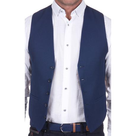 Woven Vest // Navy (S)