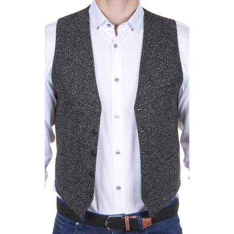 Woven Vest // Grey + Black (S)