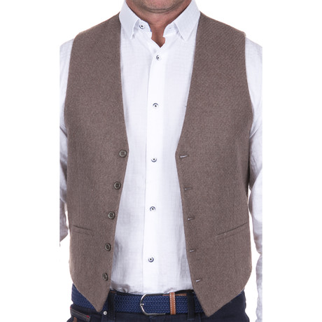 Woven Vest // Taupe (S)