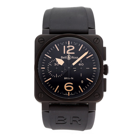 Bell & Ross Heritage Chronograph Automatic // BR0394-HERI-CE // Pre-Owned