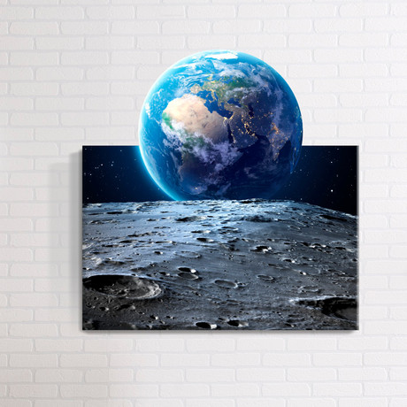 3d astronaut wall decor themed space mostic 3d wrapped canvas decal optical illusion wall art touch of modern